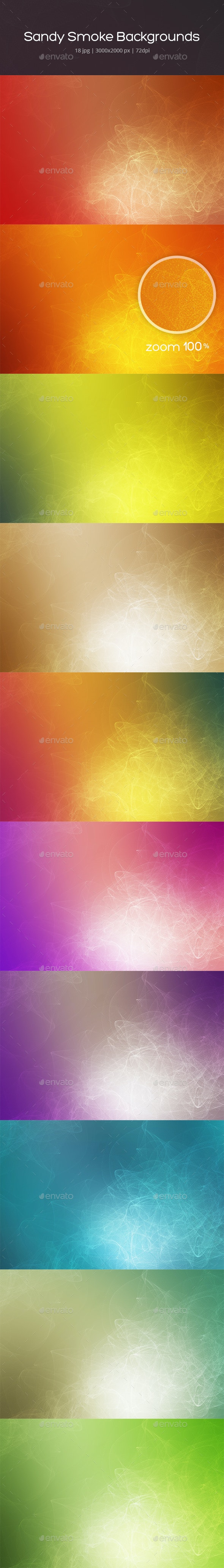 Sandy Smoke Backgrounds - Abstract Backgrounds