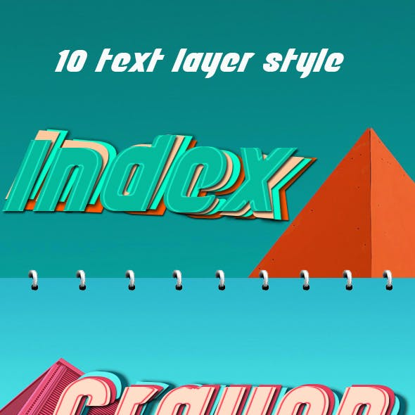 Paper Text Layer Style