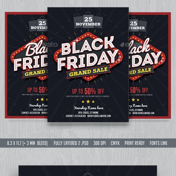 Black Friday Sale Flyer & FB Cover