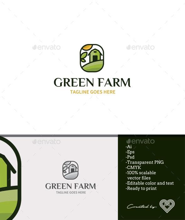 Green Farm Logo Template - Nature Logo Templates