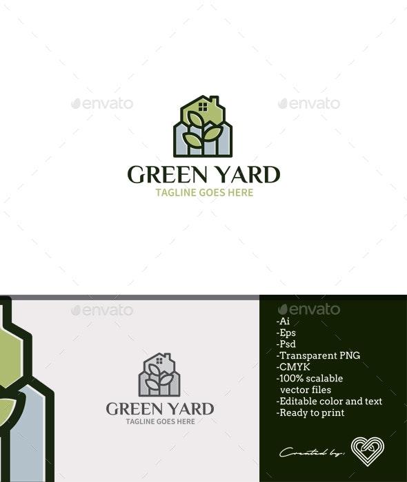 Green Yard Logo Template - Nature Logo Templates