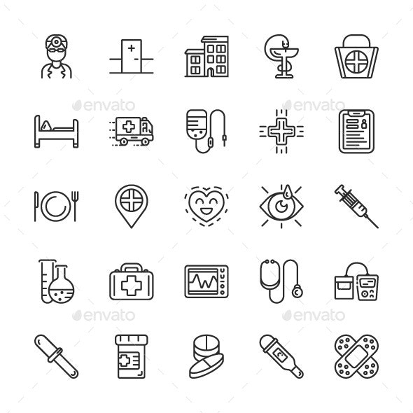Outline Medicine Icons