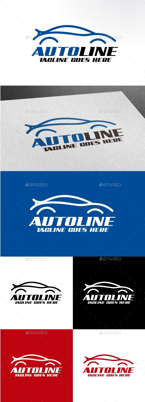 Auto Line - Objects Logo Templates