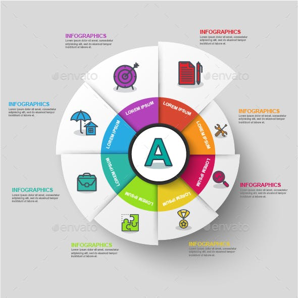 Abstract 3D Business Diagram Infographic