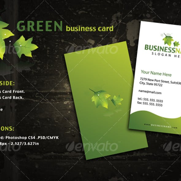 Green Style Business Card