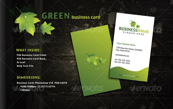Green Style Business Card - Creative Business Cards