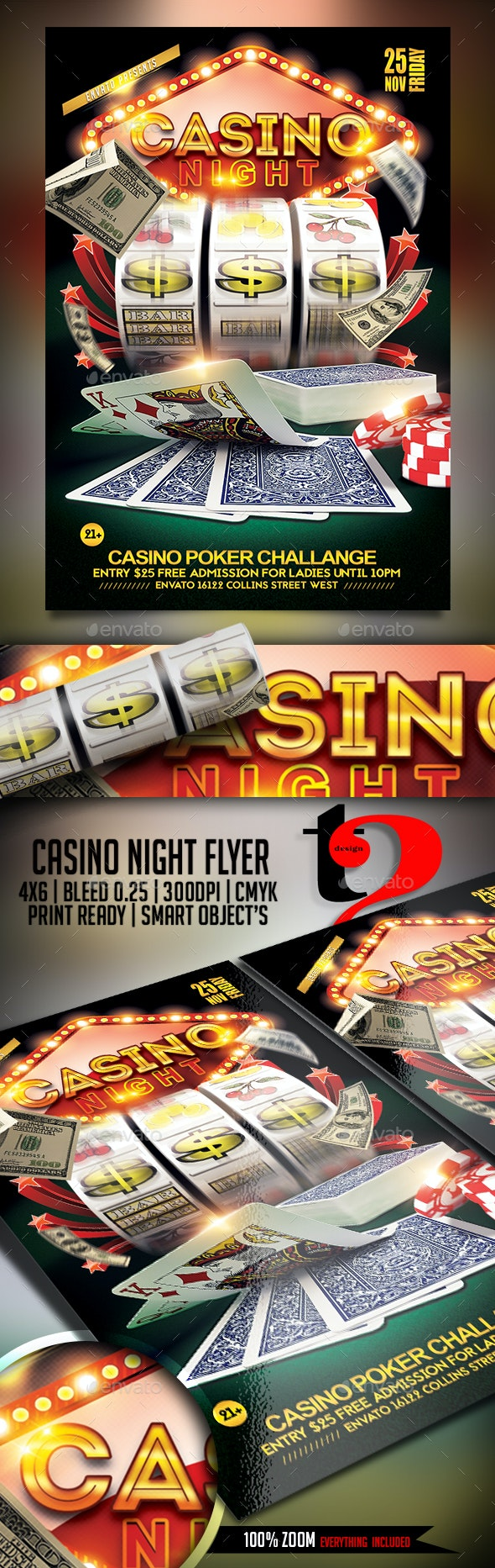 Casino Night template - Clubs & Parties Events