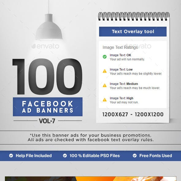 Facebook AD Banners Vol-6 - 50 Designs