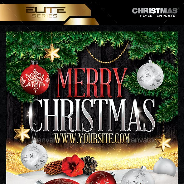 Merry Christmas Party Flyer Temaplate