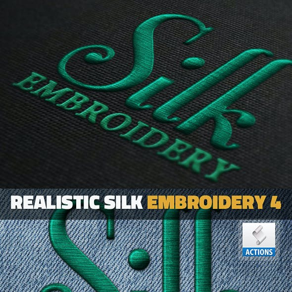 Silk Embroidery Effect Photoshop Action by psddude