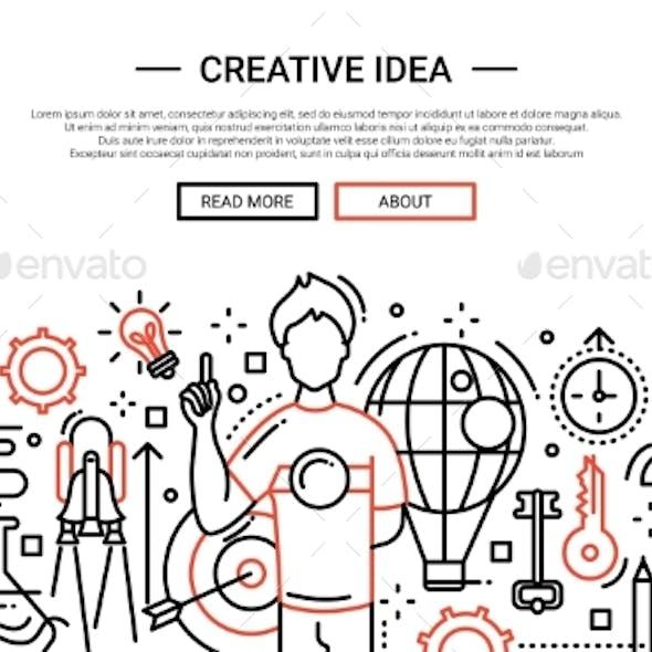 Creative Idea - Line Design Website Banner