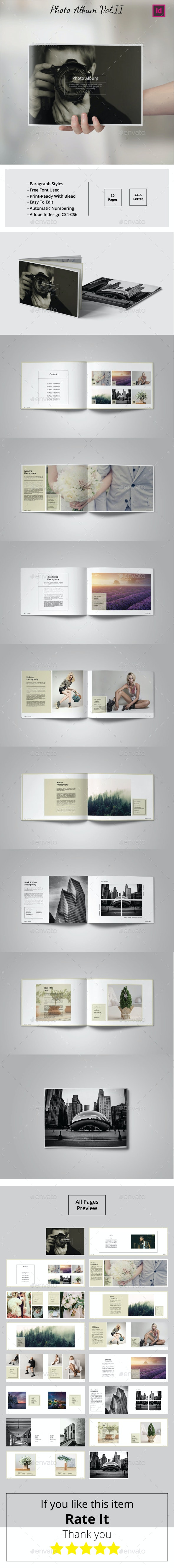 Multipurpose Landscape Photo Album Vol.II - Photo Albums Print Templates