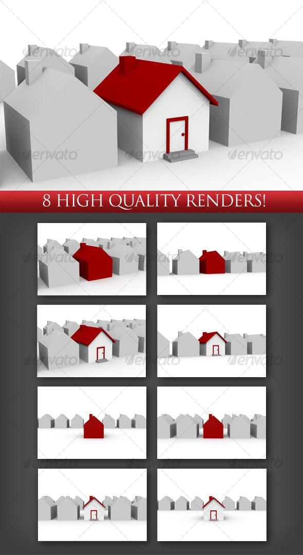 3D Unique House - 3D Backgrounds