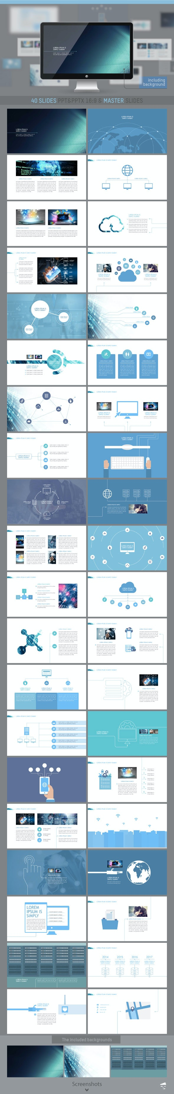 Professional presentation for Information Technology - Business PowerPoint Templates