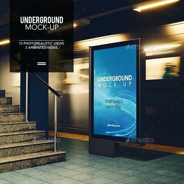 3D Underground / Subway Mock-up / Animated Edition