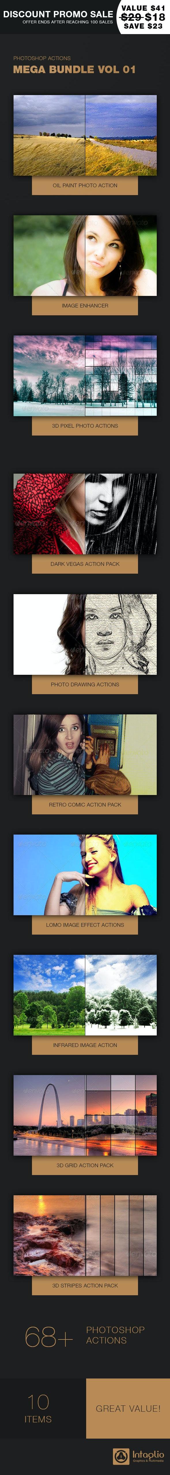 Photoshop Actions Mega Bundle Vol 1 - Actions Photoshop
