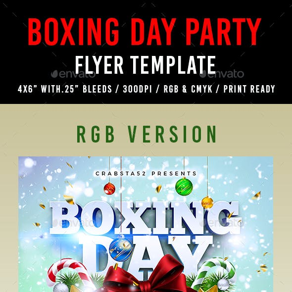 Boxing Day Party Flyer Template