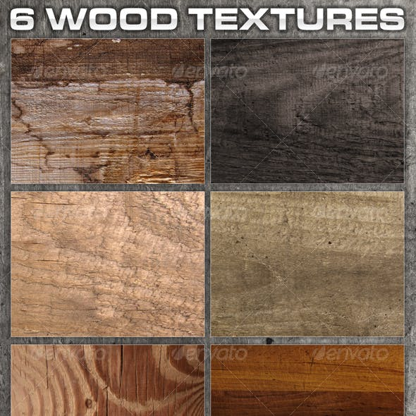 6 Rough Wood Textures
