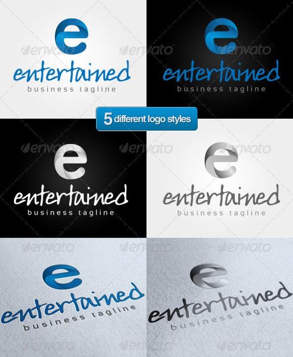 'E' Entertain Logo - Letters Logo Templates