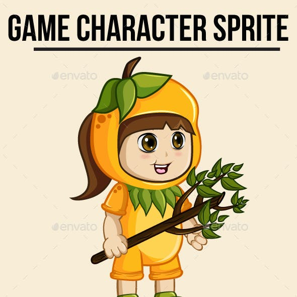 Girl Sprite Character