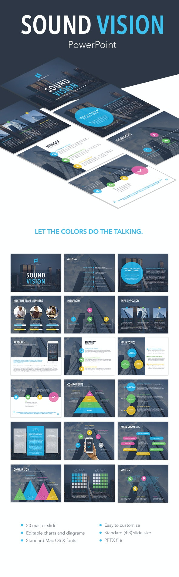 Sound Vision PowerPoint Template - PowerPoint Templates Presentation Templates