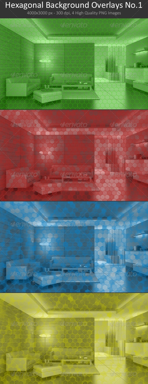 Hexagonal Background Overlays No.1 - Backgrounds Graphics