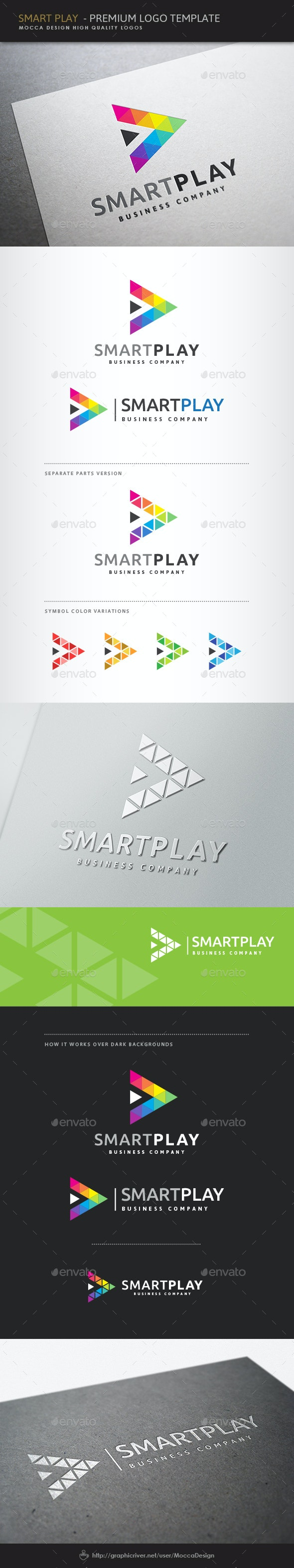 Smart Play Logo - Symbols Logo Templates