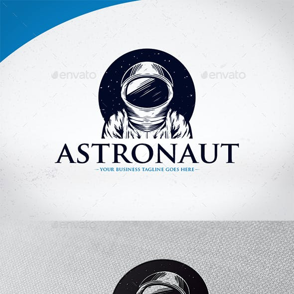 Space Astronaut Logo Template