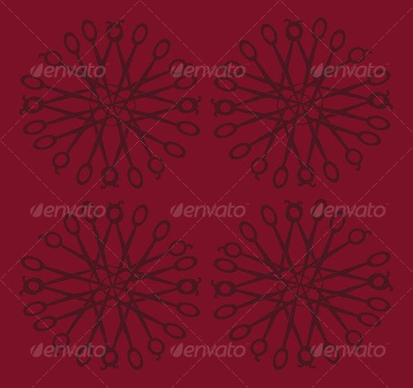 Floral Scissors Pattern - Patterns Decorative