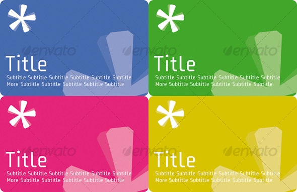 Flyer Asterisk with Text (different colors) - Miscellaneous Vectors