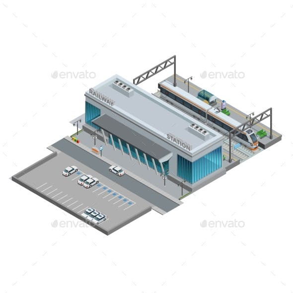 Isometric Miniature of Railway Station
