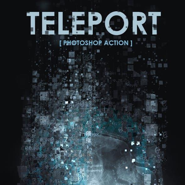 Teleport Photoshop Action