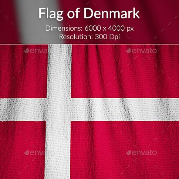 Ruffled Flag of Denmark