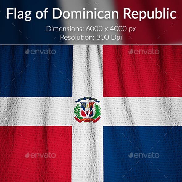 Ruffled Flag of Dominican Republic