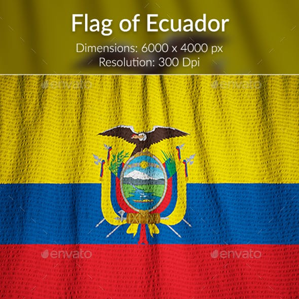 Ruffled Flag of Ecuador