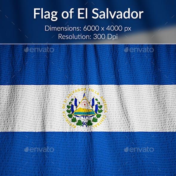 Ruffled Flag of El Salvador