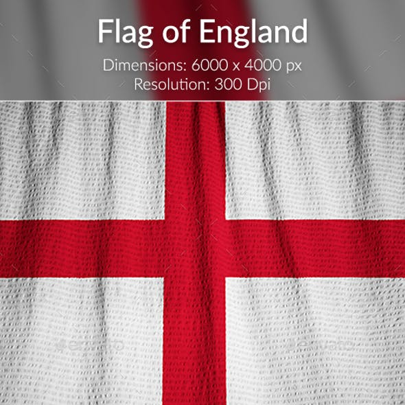 Ruffled Flag of England