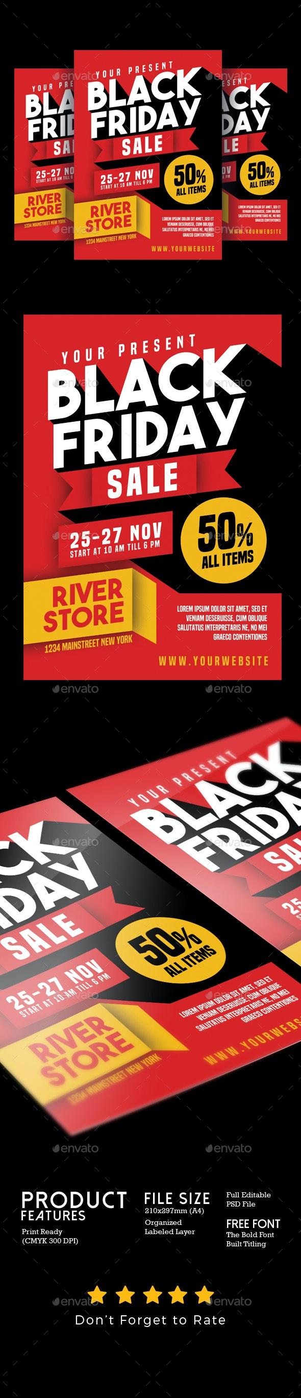 Black Friday Sale Flyer - Flyers Print Templates
