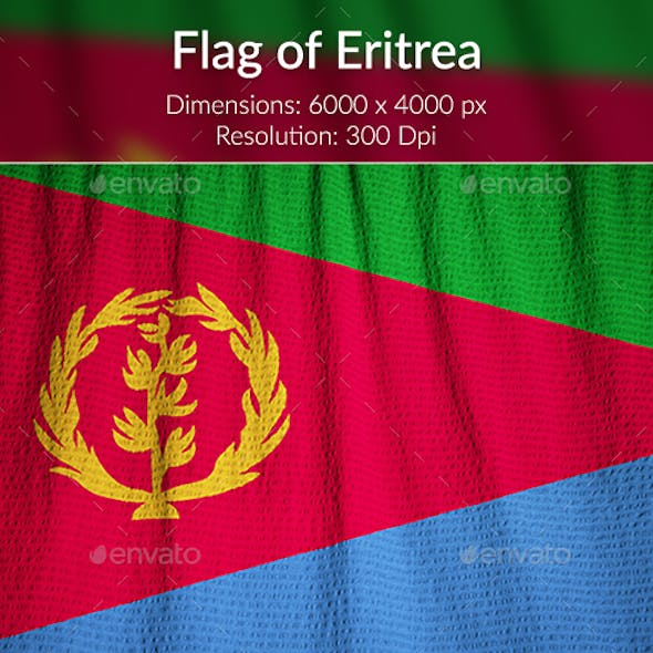 Ruffled Flag of Eritrea