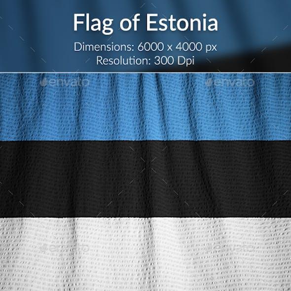 Ruffled Flag of Estonia