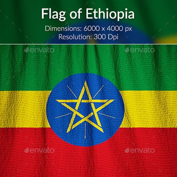 Ruffled Flag of Ethiopia