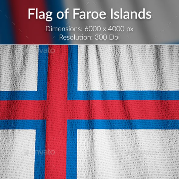 Ruffled Flag of Faroe Islands
