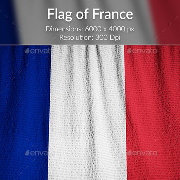 Ruffled Flag of France