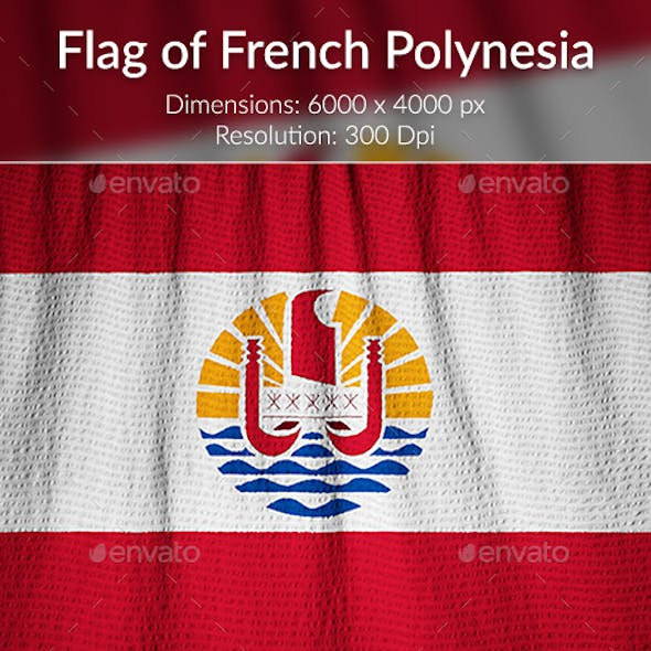 Ruffled Flag of French Polynesia