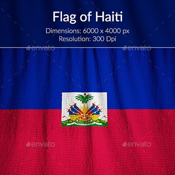 Ruffled Flag of Haiti