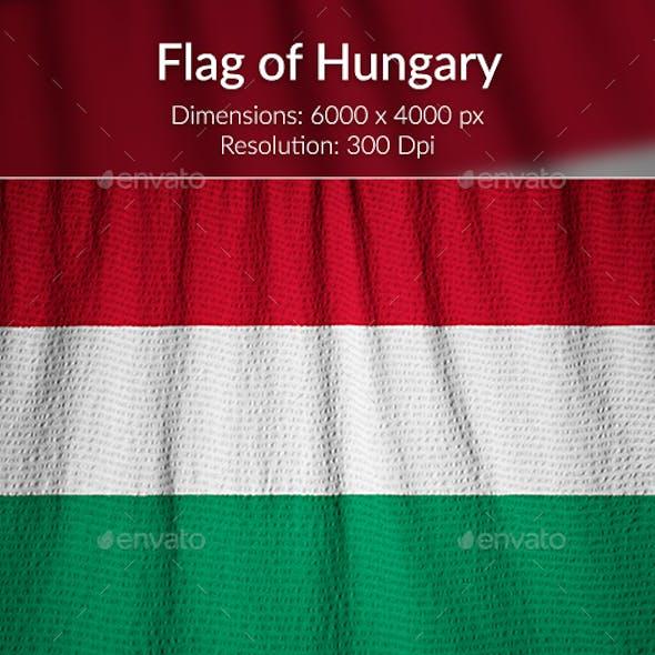 Ruffled Flag of Hungary