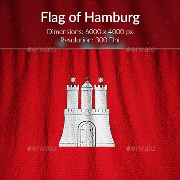 Ruffled Flag of Hamburg