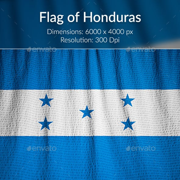 Ruffled Flag of Honduras