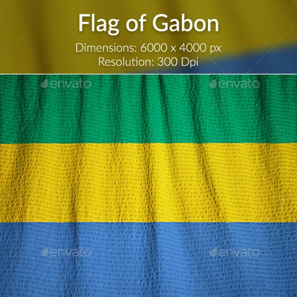 Ruffled Flag of Gabon