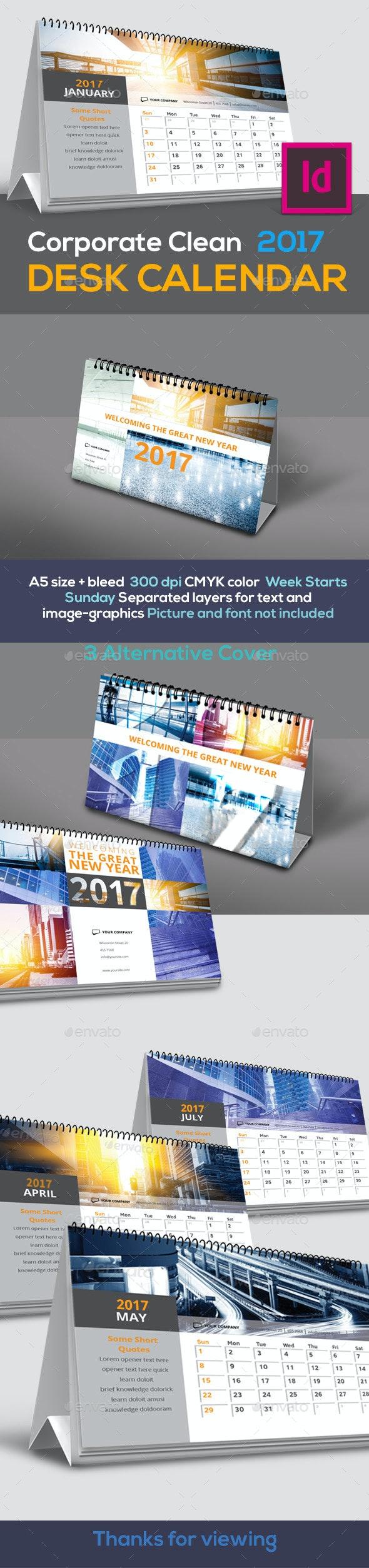 Corporate Desk Calendar 2017 - Calendars Stationery
